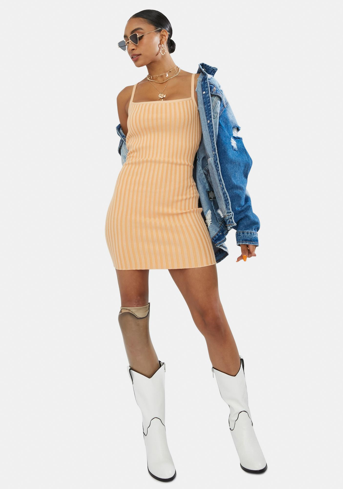 Tangy Good Days On My Mind Mini Dress