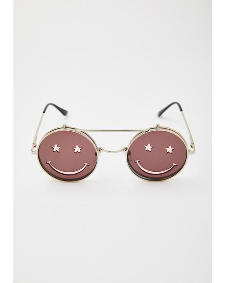 Baby Crazed Daze Smiley Sunglasses