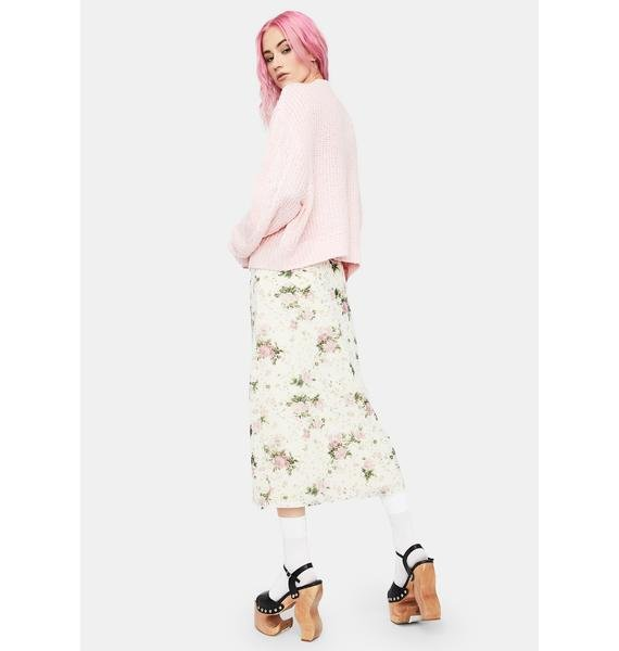 Countryside Escape Floral Midi Skirt