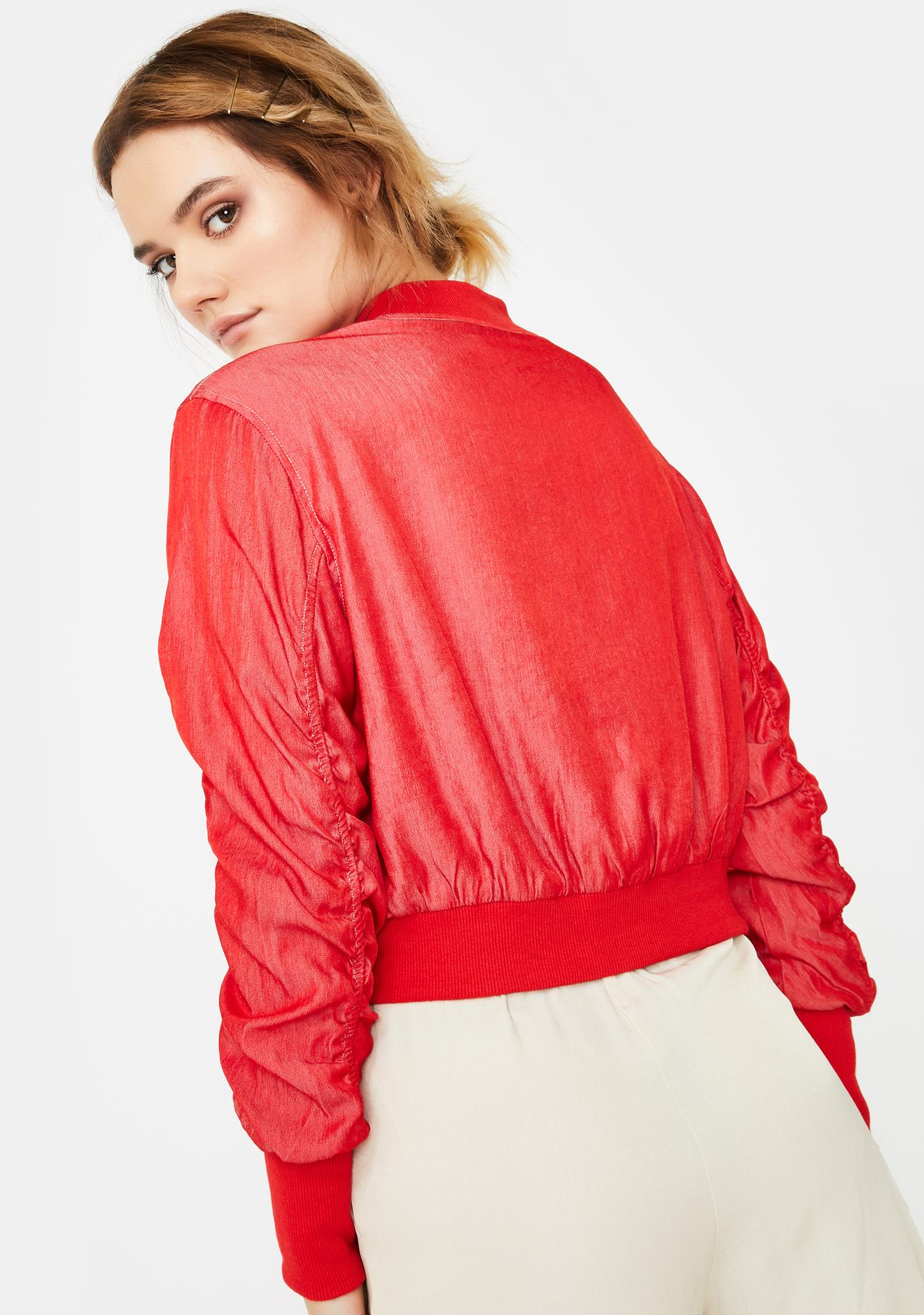 ZYA Cherry Horizon Bomber Jacket