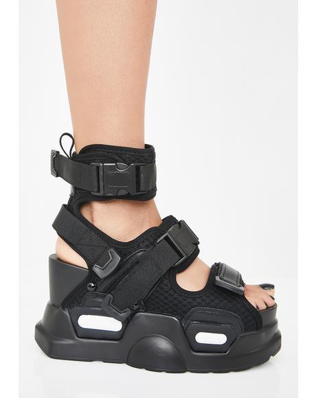 Daily Hustle Platform Sandals
