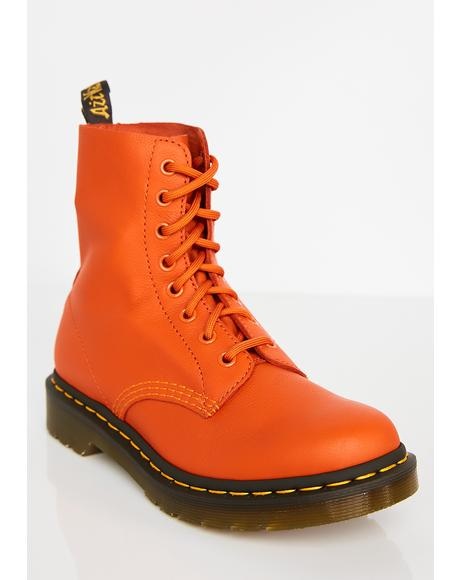 1460 Pascal Burnt Orange Boots