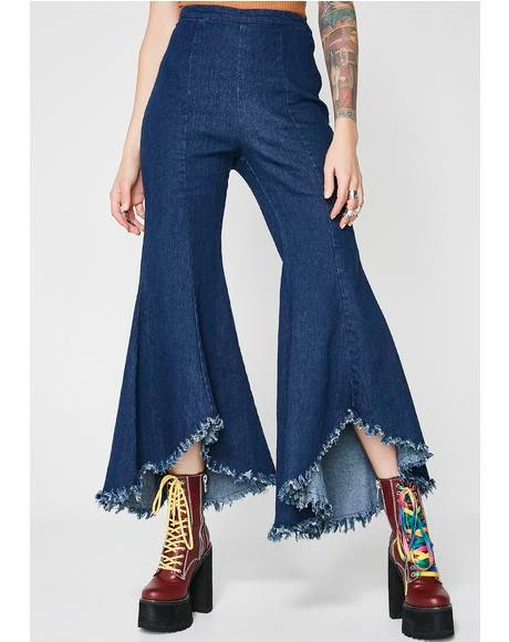 Indigo I Can Take You Higher Bell Bottom Jeans