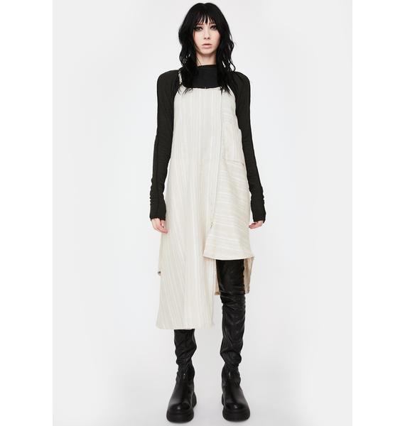 NOCTEX White Hayley Linen Midi Dress
