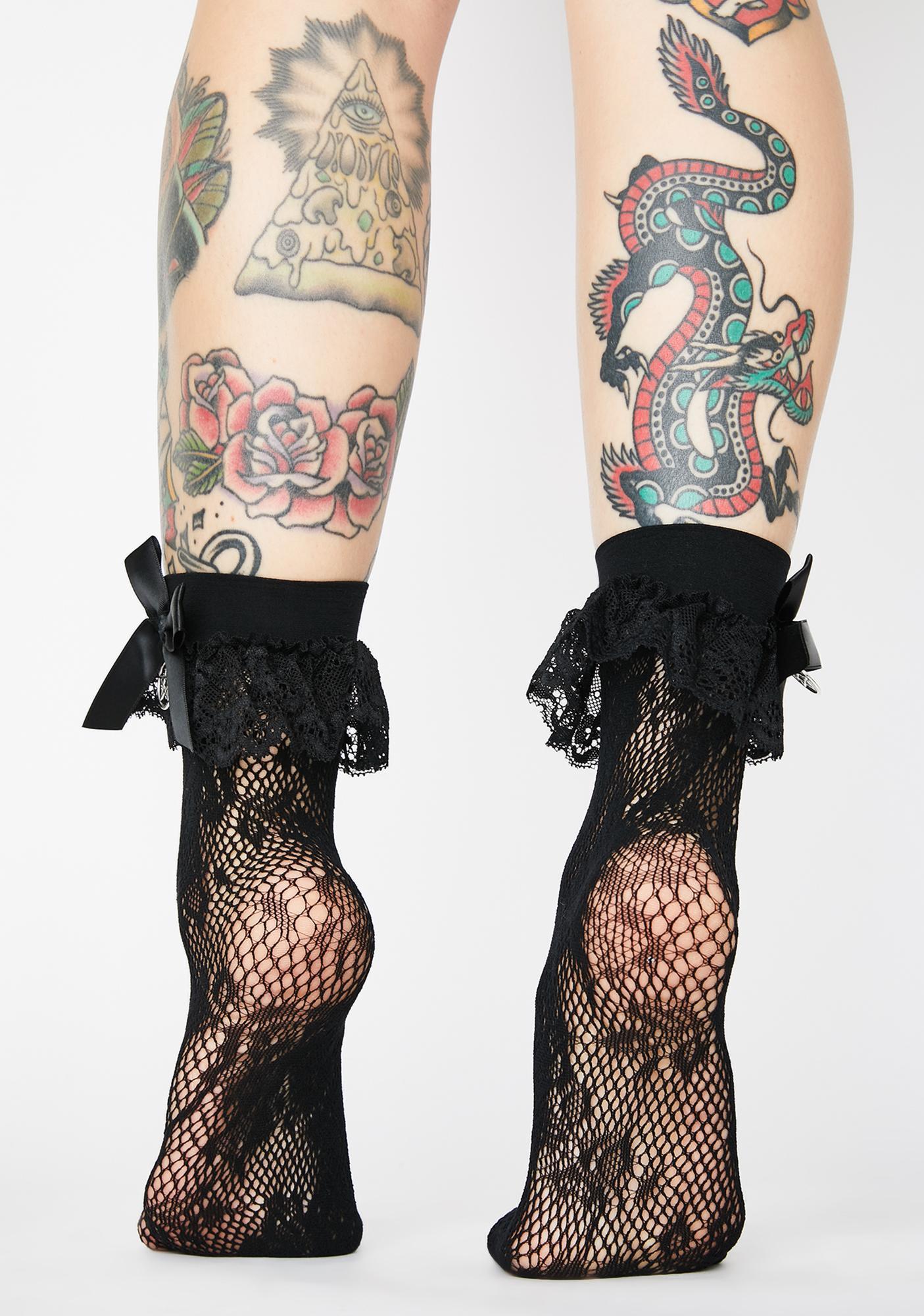 Killstar Mischief Lace Socks