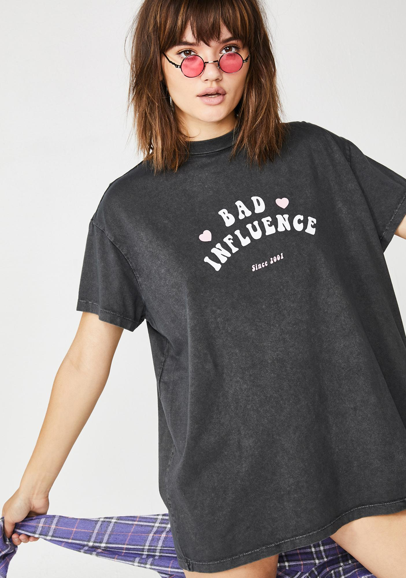 Lazy Oaf Bad Influence Graphic T-Shirt