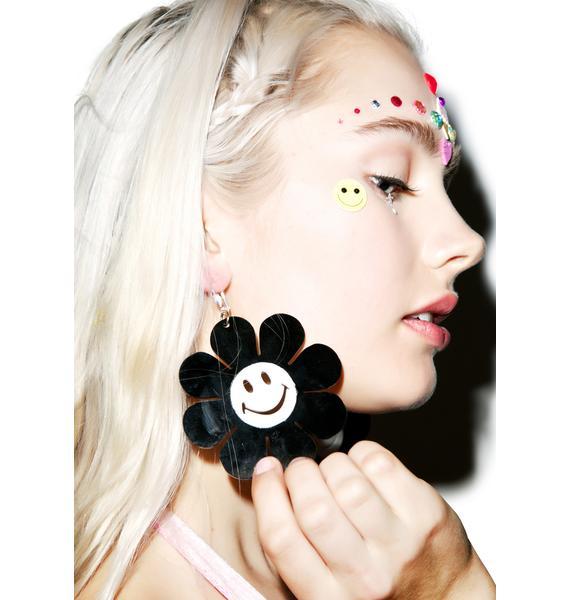 Marina Fini Happy Face Flower Power Earrings