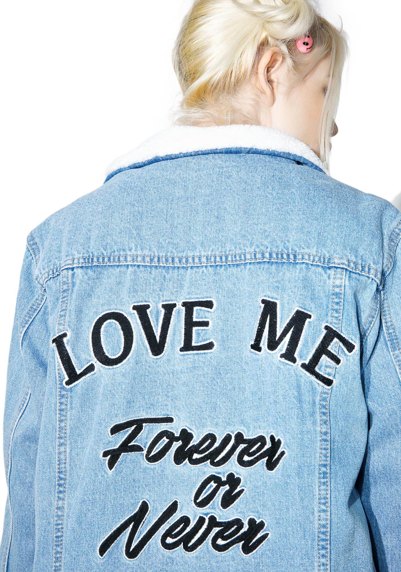 Glamorous Forever Or Never Denim Jacket