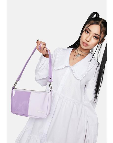 Violet Baguette Bag
