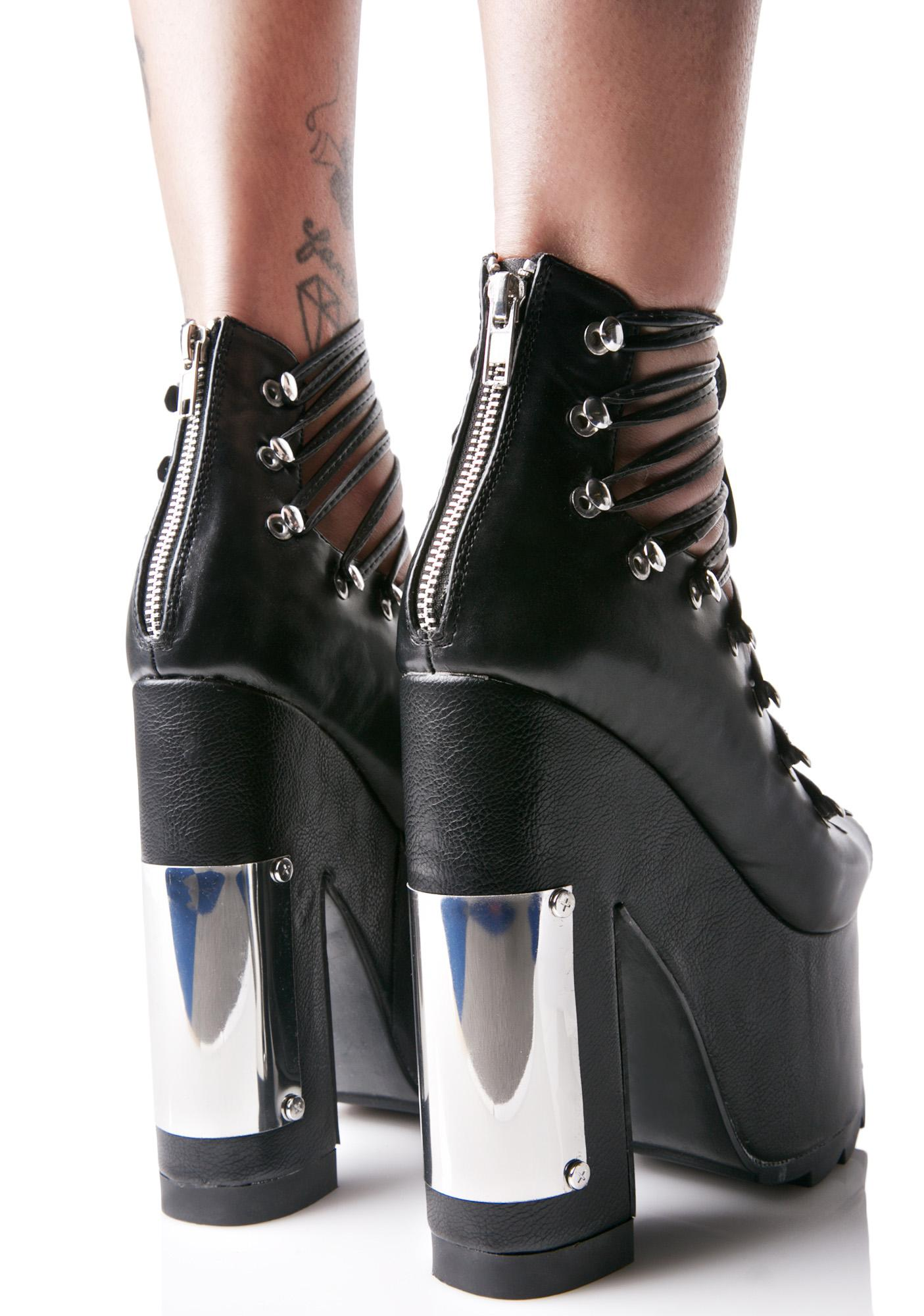 Y.R.U. Heavy Metal Ballet Bae Platforms