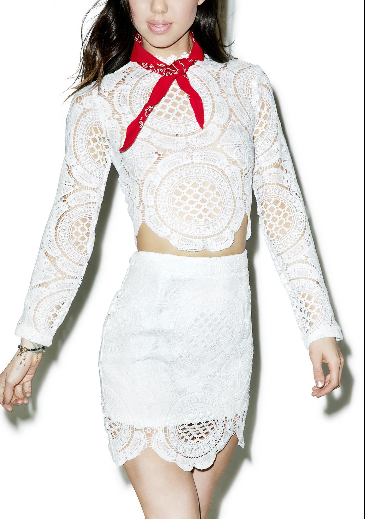 Glamorous Victoriana Lace Skirt