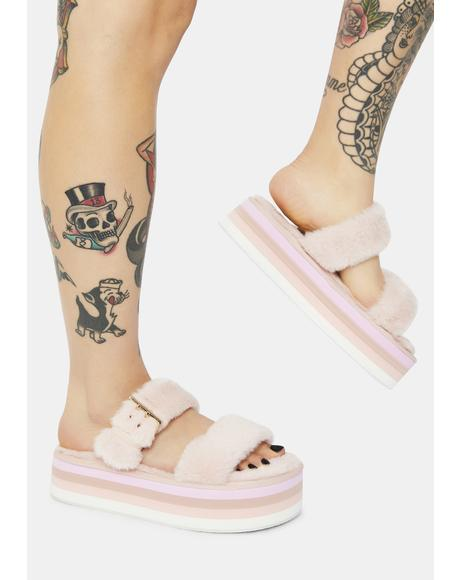 Blush Here At Last Platform Sandals