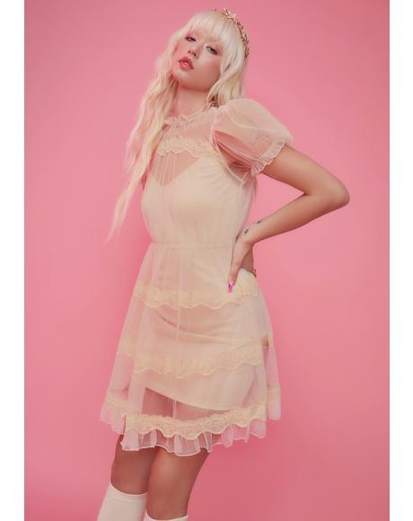 Dream Meadow Sheer Babydoll Dress