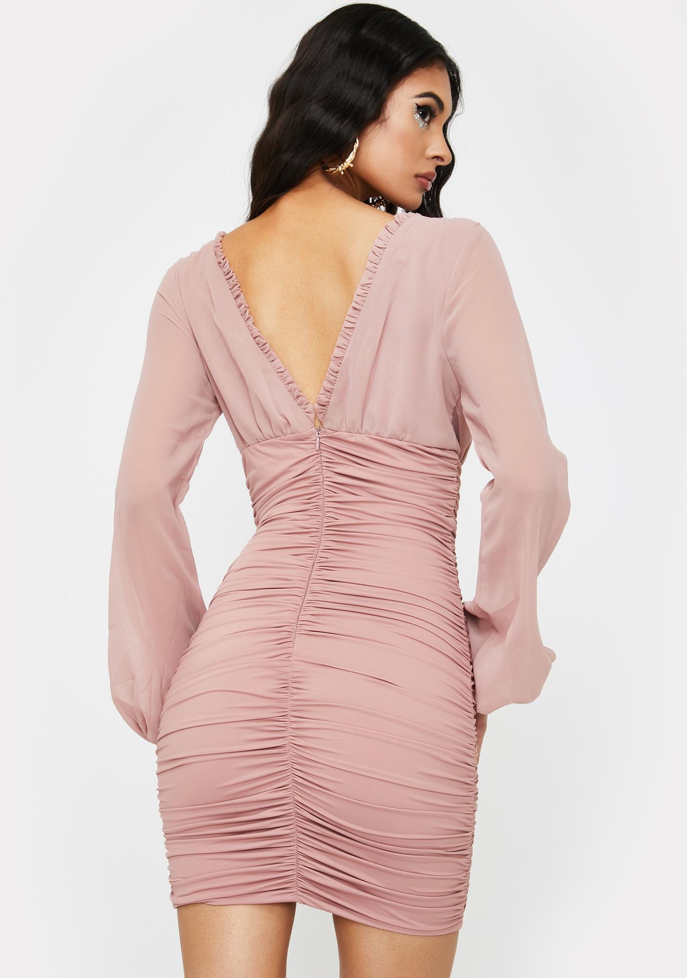 Tiger Mist Blush Magnolia Mini Dress