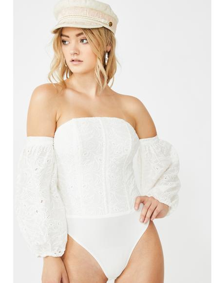 Honey Whisper Eyelet Bodysuit