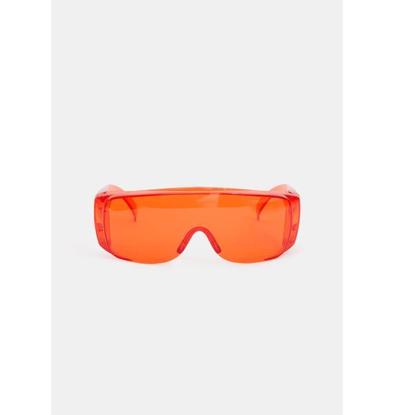 Fire Pass The Test Shield Sunglasses