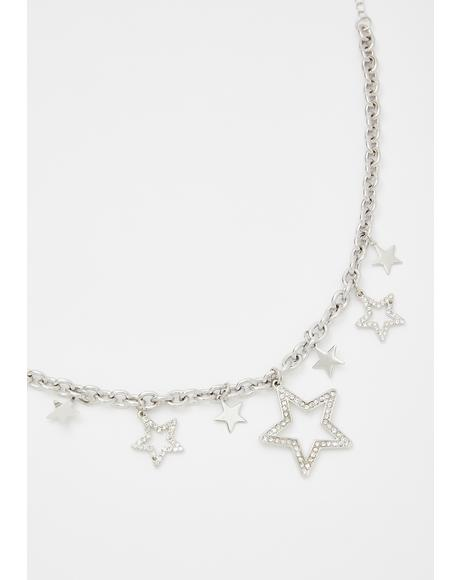 Kiss The Stars Chain Necklace