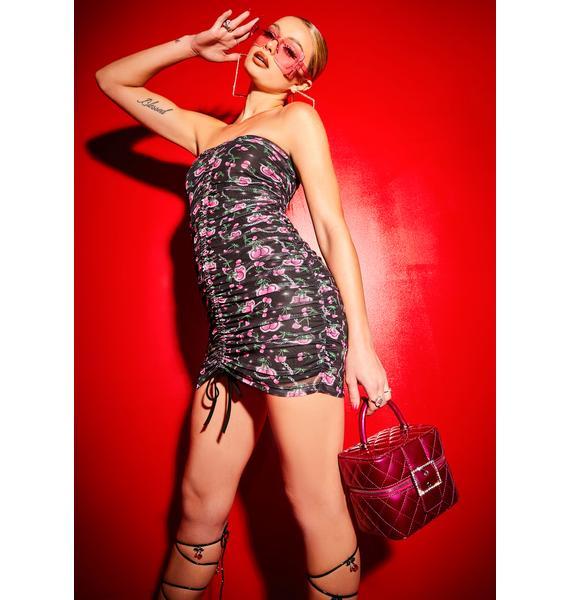 Poster Grl Choose Ur Cherry Strapless Halter Dress