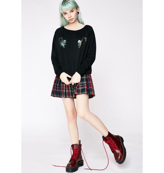 Candy Cane Glitter Boob Sweatshirt