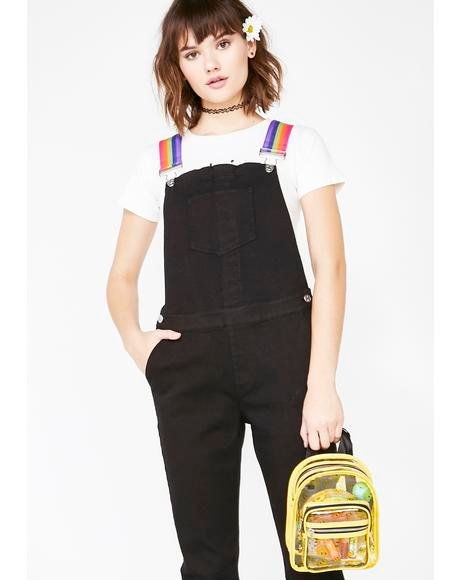 Drive Me Crazy Denim Overalls