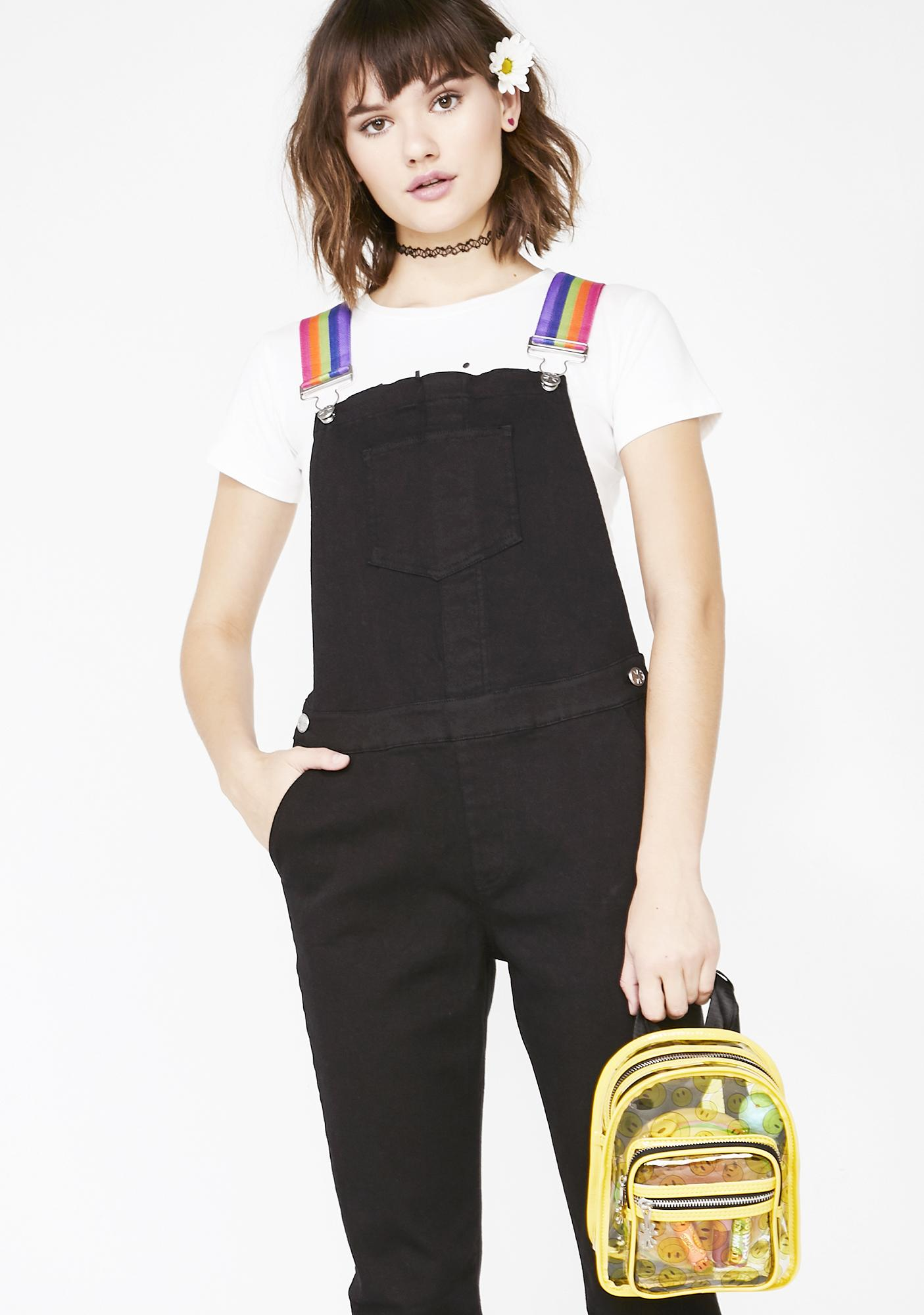 e03104d8202b dELiA*s by Dolls Kill Drive Me Crazy Denim Overalls | Dolls Kill