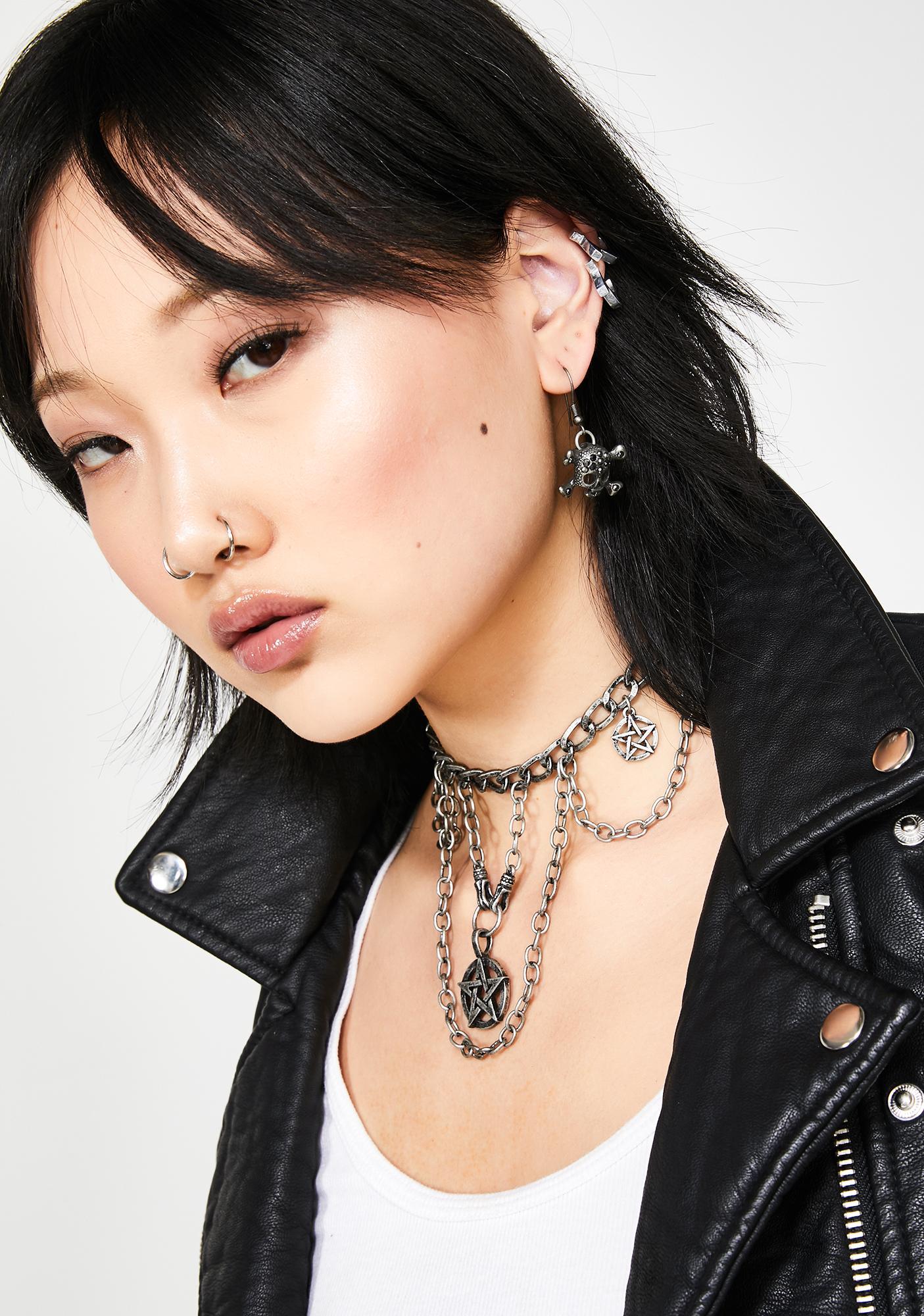 Toxxic Baddie Skull Earrings