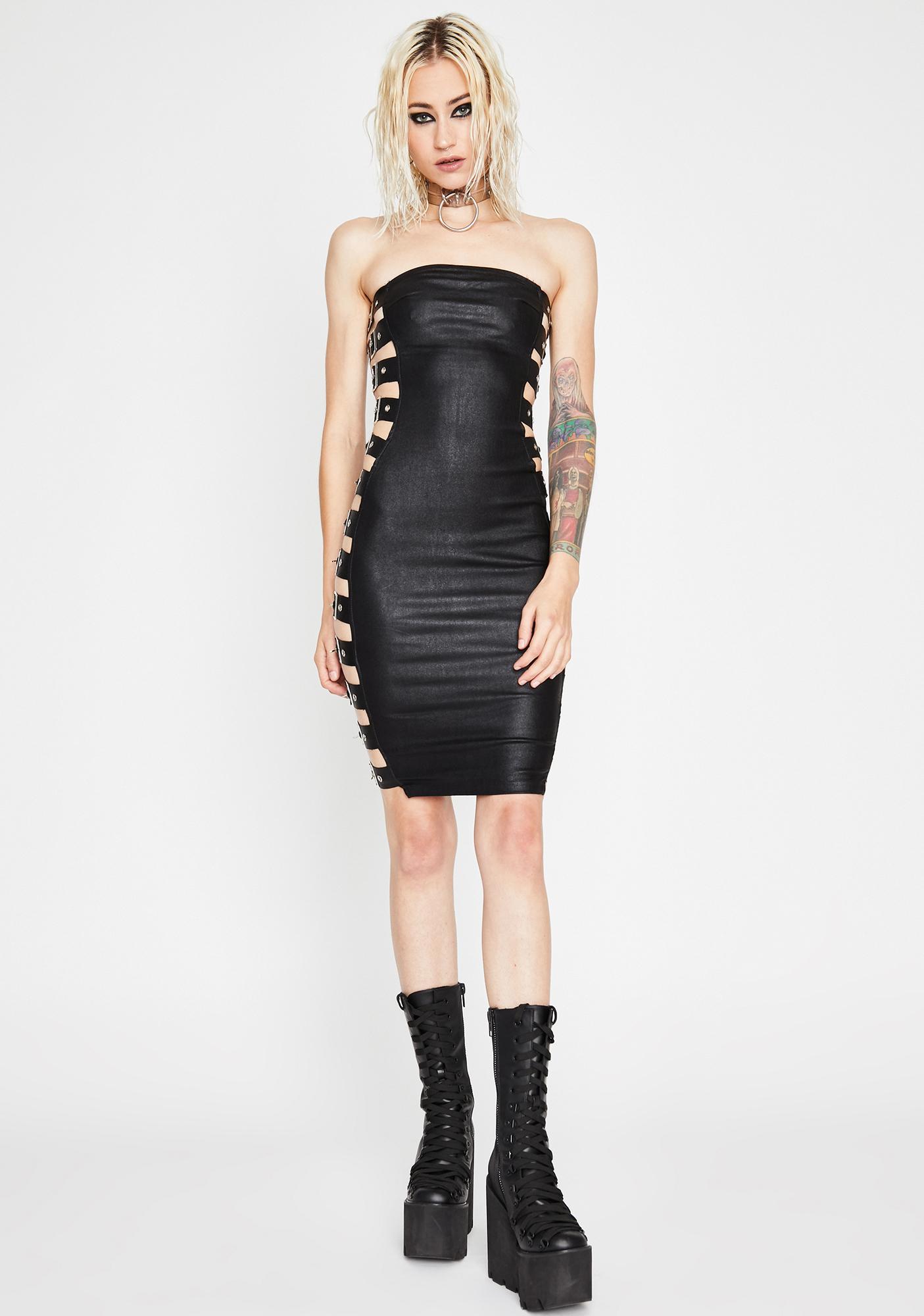 Midnight War Zone Mini Dress