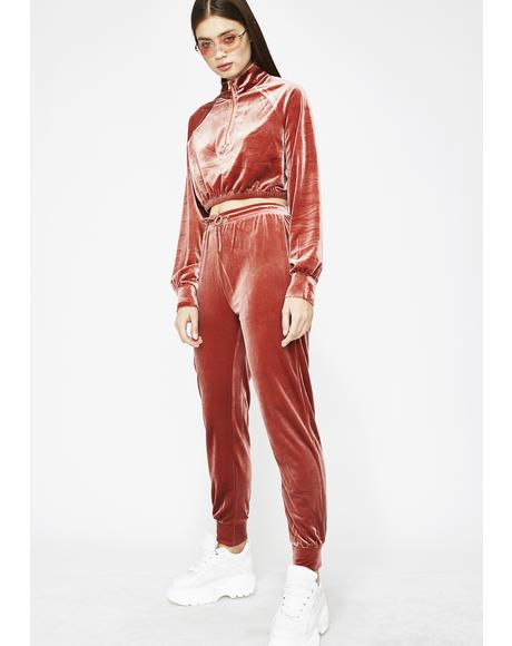 Suited To Slay Velour Set
