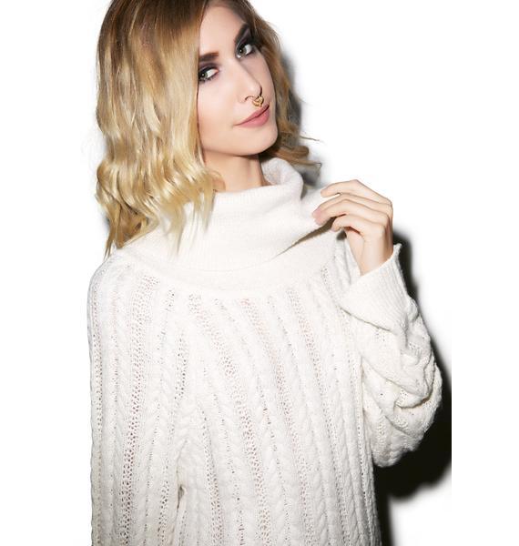 For Love & Lemons Solstice Backless Sweater