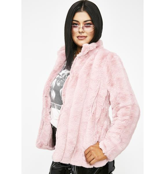 Run It Up Faux Fur Jacket