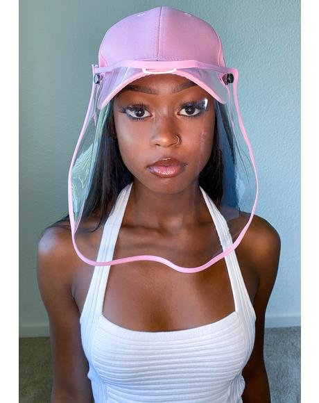Pink Safety Shield Hat