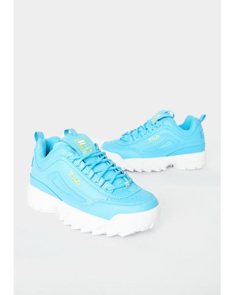 Blue Disruptor II Premium Sneakers