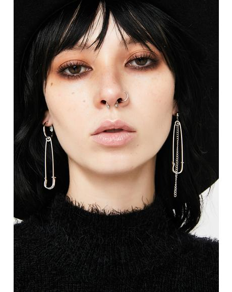 Straight To The Point Drop Earrings