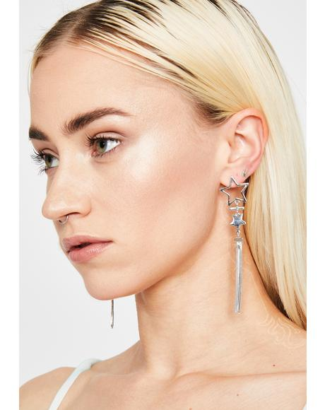 Star Shooter Drop Earrings