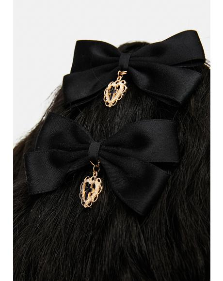Divine Intervention Hair Bow Clips