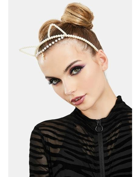 Glam Kitty Pearl Headband