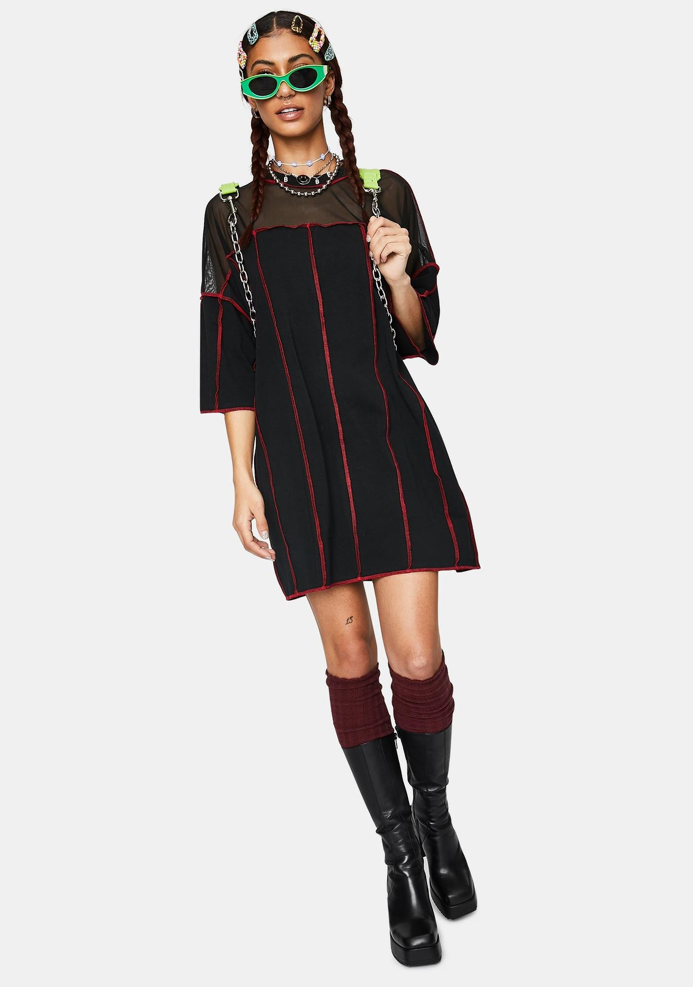The Ragged Priest Exposed Paneled Tee Dress