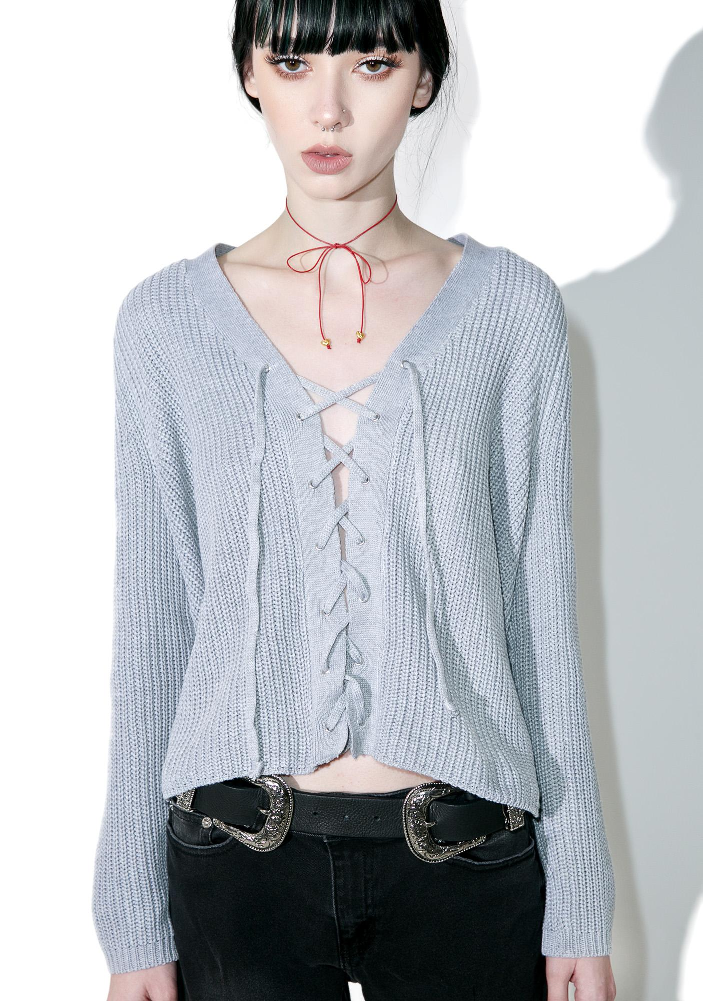 Sky High Adrenaline Lace-Up Top