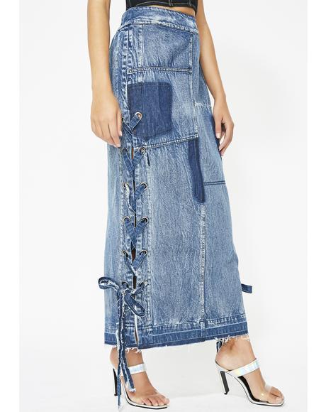 Freaky Frontier Denim Skirt