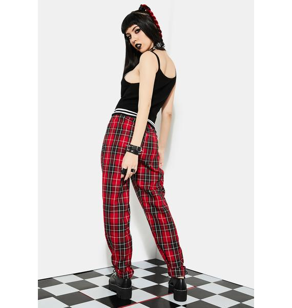 Current Mood Hate To Love Plaid Trousers