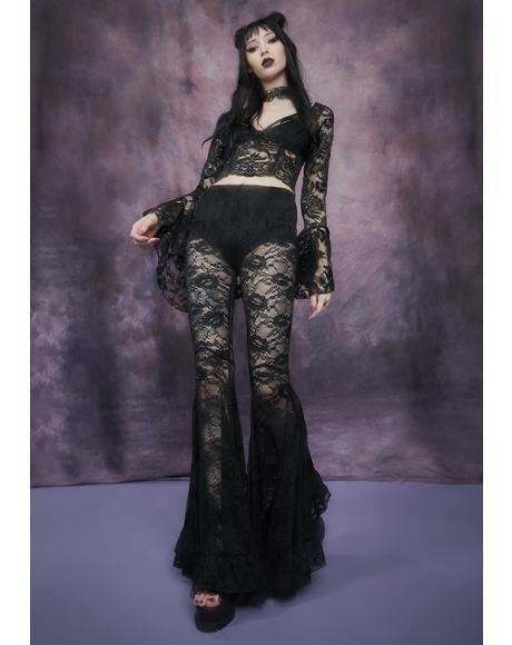 Shadows Of Moonlight Lace Bell Bottoms