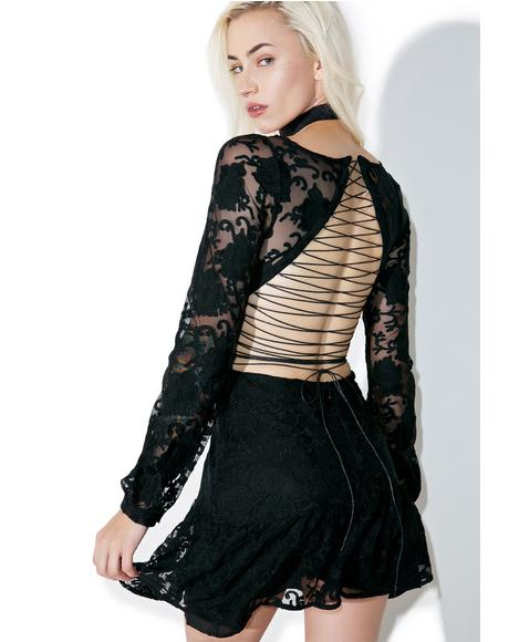 Jolene Lace-Up Dress
