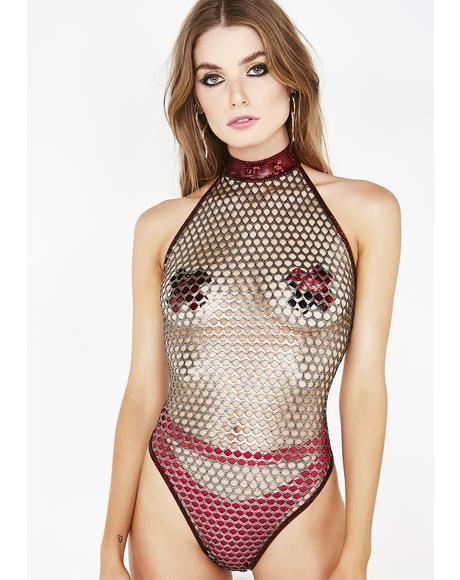 Melodic Flow Fishnet Bodysuit