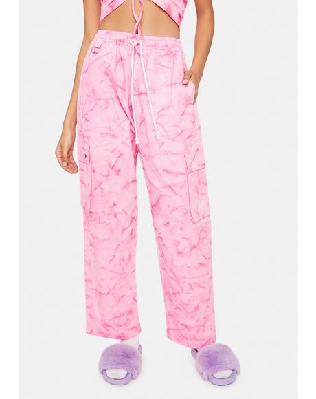 Pink Get It Poppin Cargo Pants