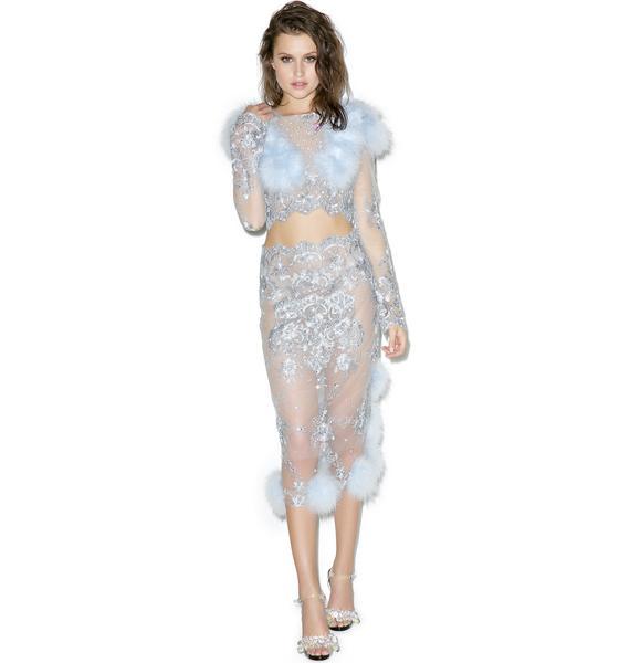 Dyspnea Blue Bubblegum Skirt