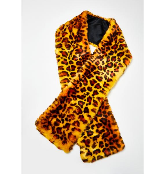 Lavish N' Luxx Leopard Scarf
