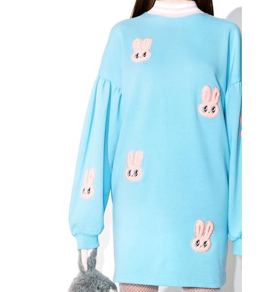 Lazy Oaf Esther Loves Oaf Bunny Sweater