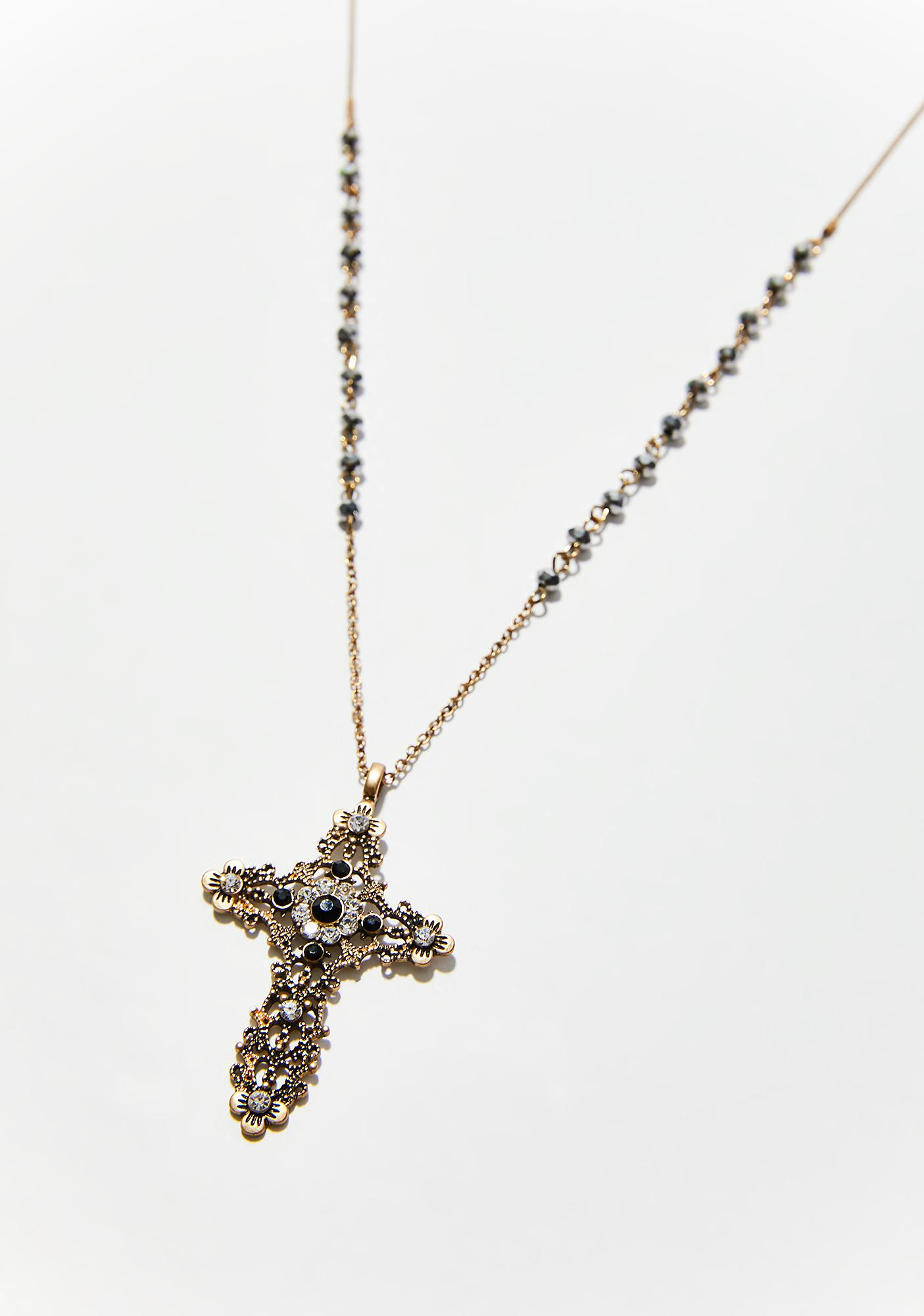 Pray For Me Cross Necklace