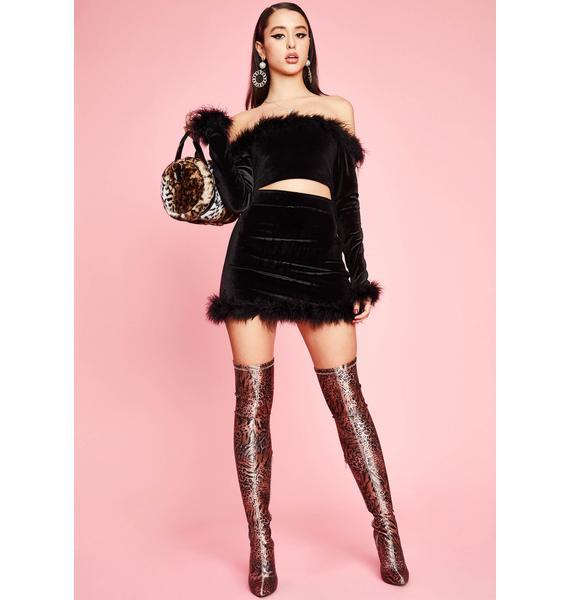 Sugar Thrillz Filthy Femme Velvet Mini Skirt