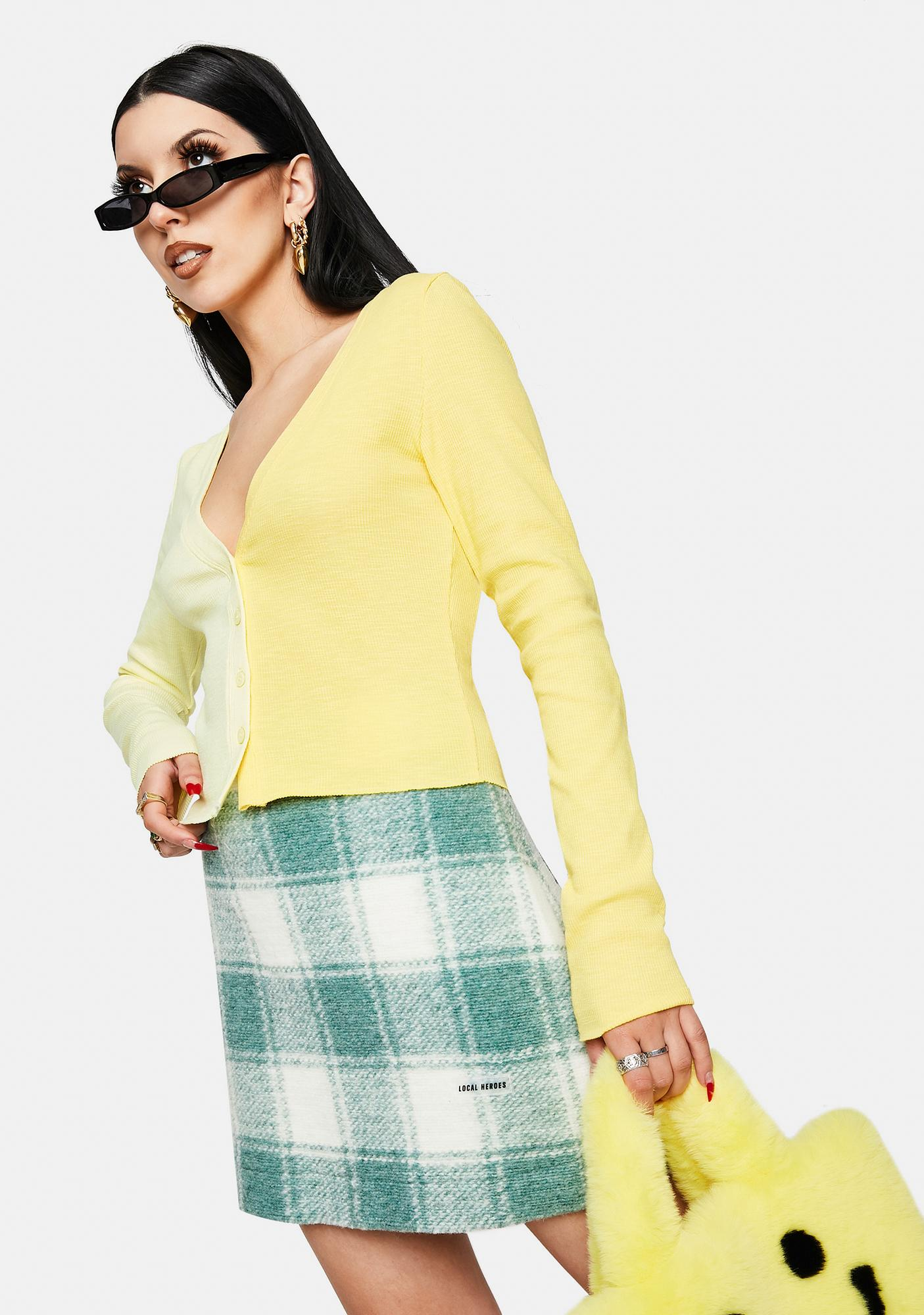 Bailey Rose Two Tone Cropped Cardigan